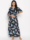 Maternity & Feeding Kaftan Summer Maxi Dress with Zip