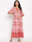 Summer Maternity & Feeding Maxi Kaftan with Button