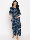 Maternity & Nursing Summer Breezy Caftan Dress With A Tie Waist