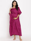 Maternity & Nursing Cotton Kaftan Lounge Dress