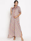 Maternity & Nursing Maxi shirt dress
