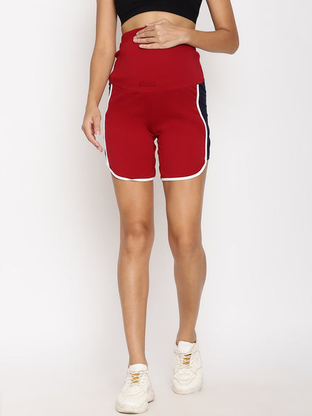 2pc. Maternity Comfy OverBelly Shorts Set