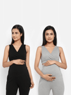 Pack of 2 Maternity Crossover Nursing Bra