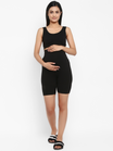 Maternity Cotton Hi-rise Shorts