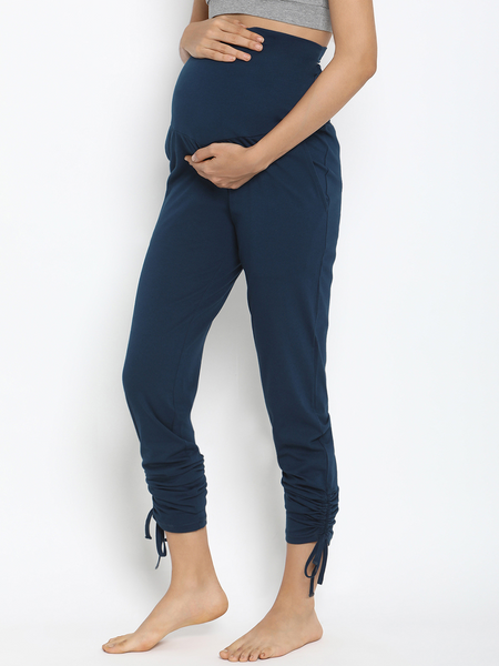 Ruched Maternity Legging Pants