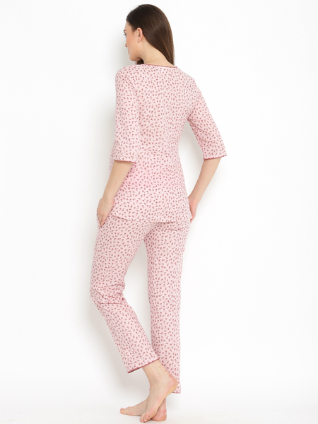 100% Cotton Maternity/Feeding Pajama Set 2pc.