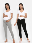 Under Belly - Maternity Cotton Leggings (2 Pack)