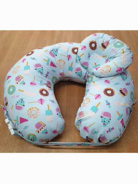 Nursing Pillow with Detachable Baby Head Support Pillow