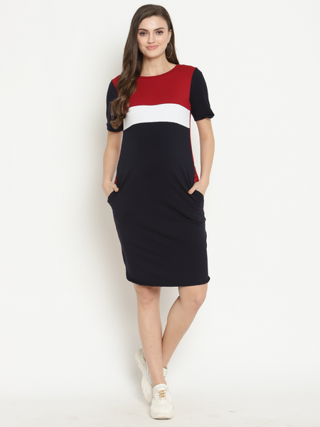 Maternity Casual Track Dress