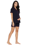 2pc. Maternity & Nursing Button-Front Top & OverBelly Shorts Set
