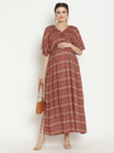 Moroccan Maternity & Nursing Kaftan Maxi Dress