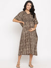Maternity & Nursing Long Kaftan - Pure Cotton
