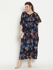 Maternity & Nursing Kaftan Maxi Dress