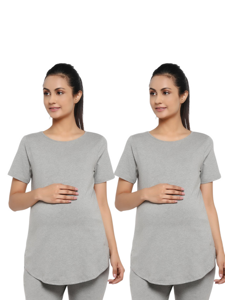 Essentials 2-Pack Maternity Half Sleeves T-Shirt