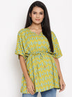 Maternity & Nursing Caftan Top with Tie-waist