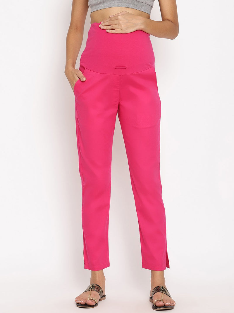 Overbelly Cotton Blend Maternity Pants