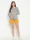 Cotton High-Rise Maternity Shorts