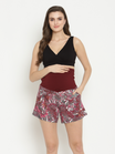High-Waist Maternity Pull-On Shorts