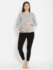 High Waisted Maternity Leggings- French Terry