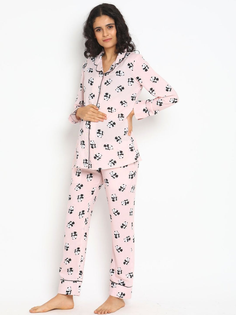 2-pc. Cotton Viscose Maternity Pajama Set