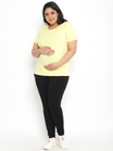 Plus Size Cotton Maternity Leggings