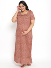 100% Cotton Plus Size Maternity/Feeding Nighty