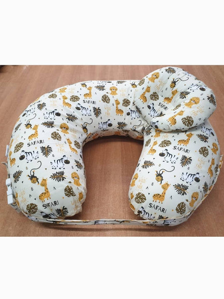 Cotton Baby Feeding Pillow with Infant Head Support Pillow