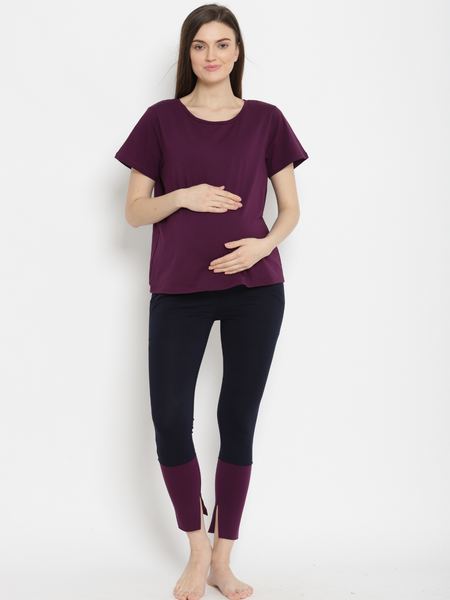 Under Belly - Maternity Cotton Leggings