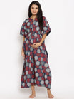 Maternity & Nursing Cotton Maxi Kaftan Dress
