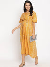 Summer Cotton Kimono Maternity & Nursing Maxi Kaftan Dress