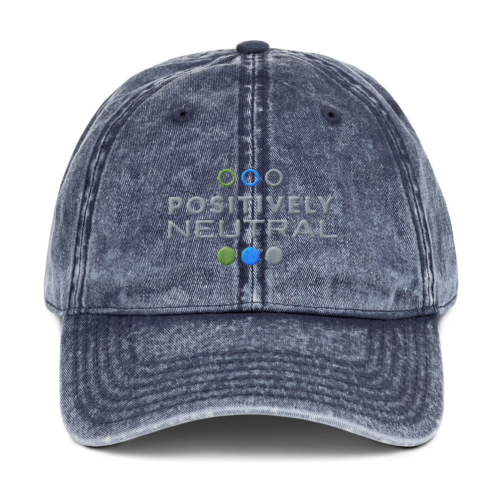 Positively Neutral Vintage Cap - No Conflict Zone