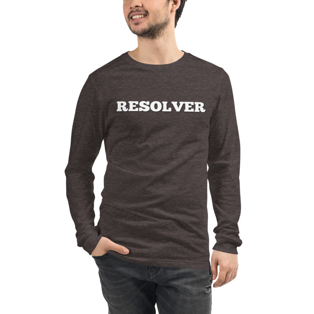 Resolver - Unisex Long Sleeve Tee - No Conflict Zone