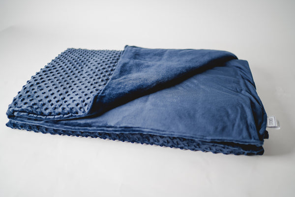 blue weighted blanket minky duvet cover