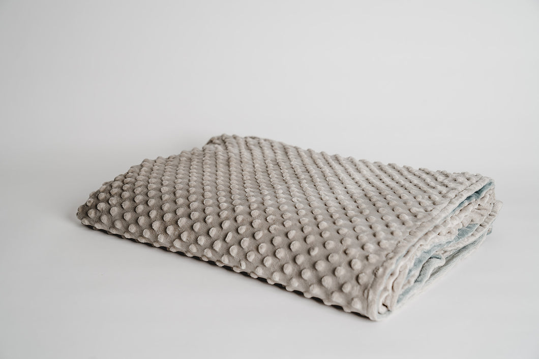 light gray minky dot duvet cover