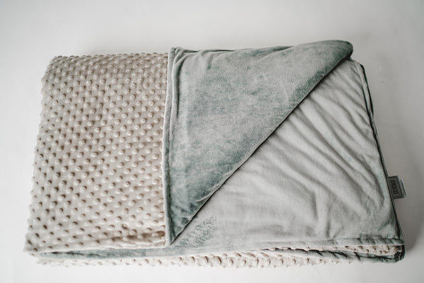 light gray weighted blanket minky dot duvet cover