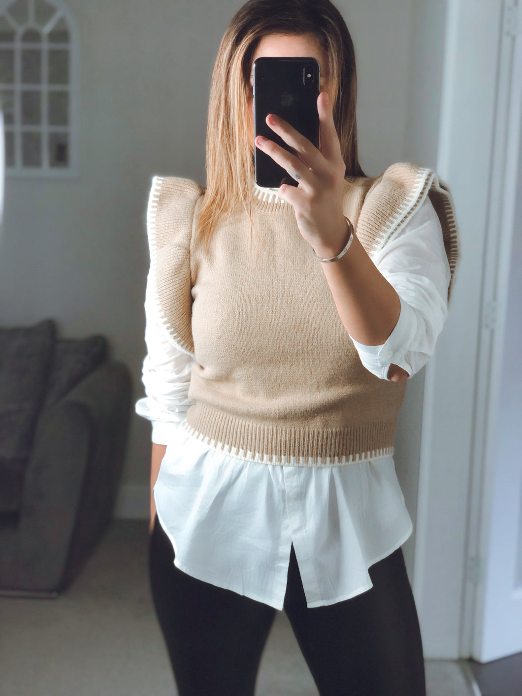 Tier Sleeve Knitted Top