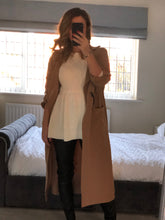 Load image into Gallery viewer, Camel Trench Coat