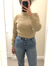 Load image into Gallery viewer, Beige roll neck jumper