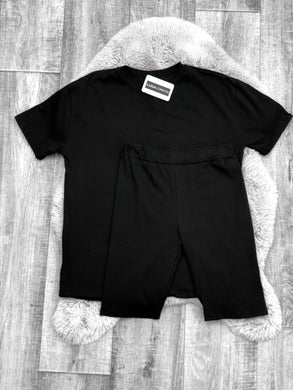 Oversized Tee Co-ord Black