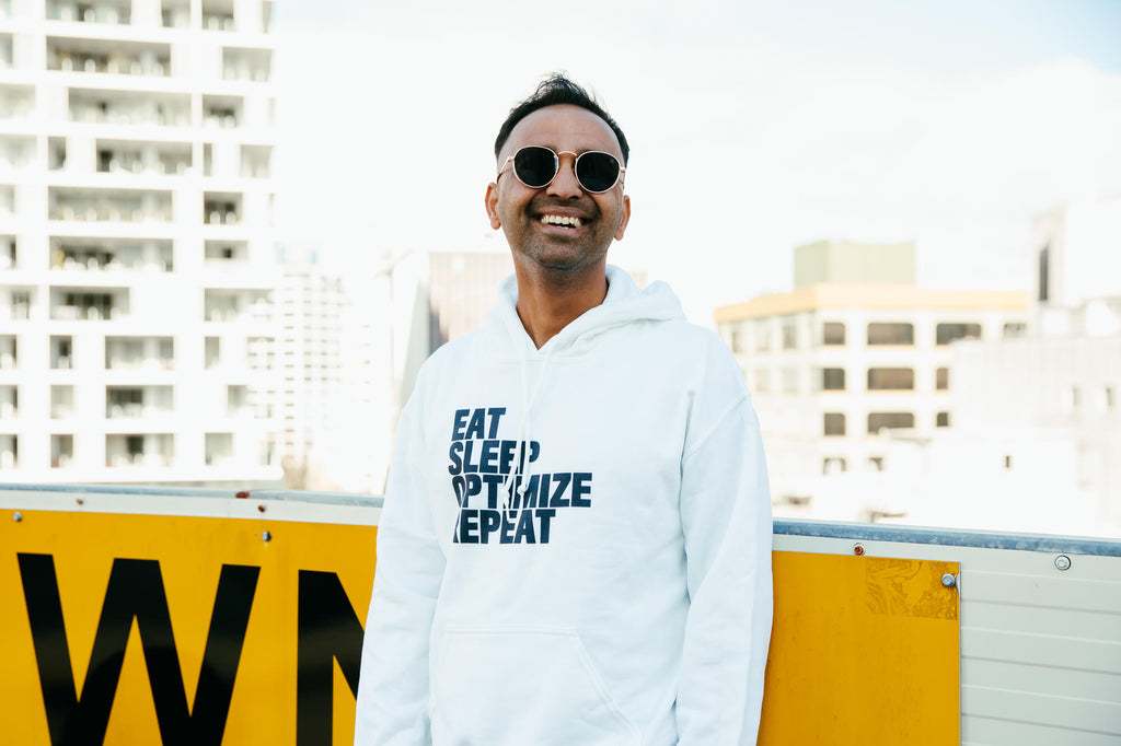 Eat Sleep Optimize Repeat White Hoodie