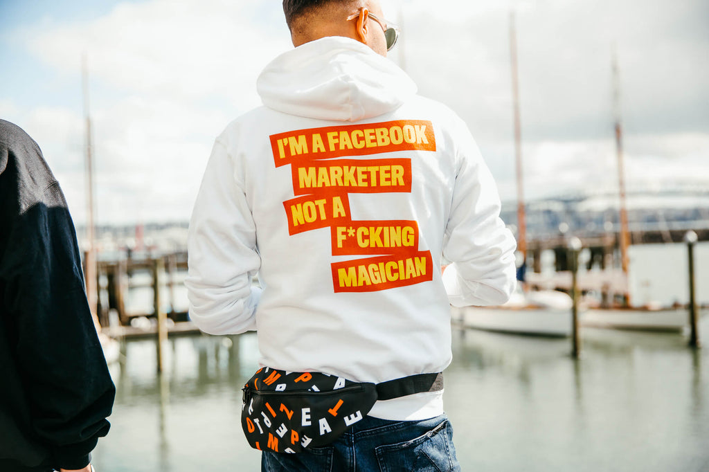 FB MARKETER Hooded Sweatshirt Orange