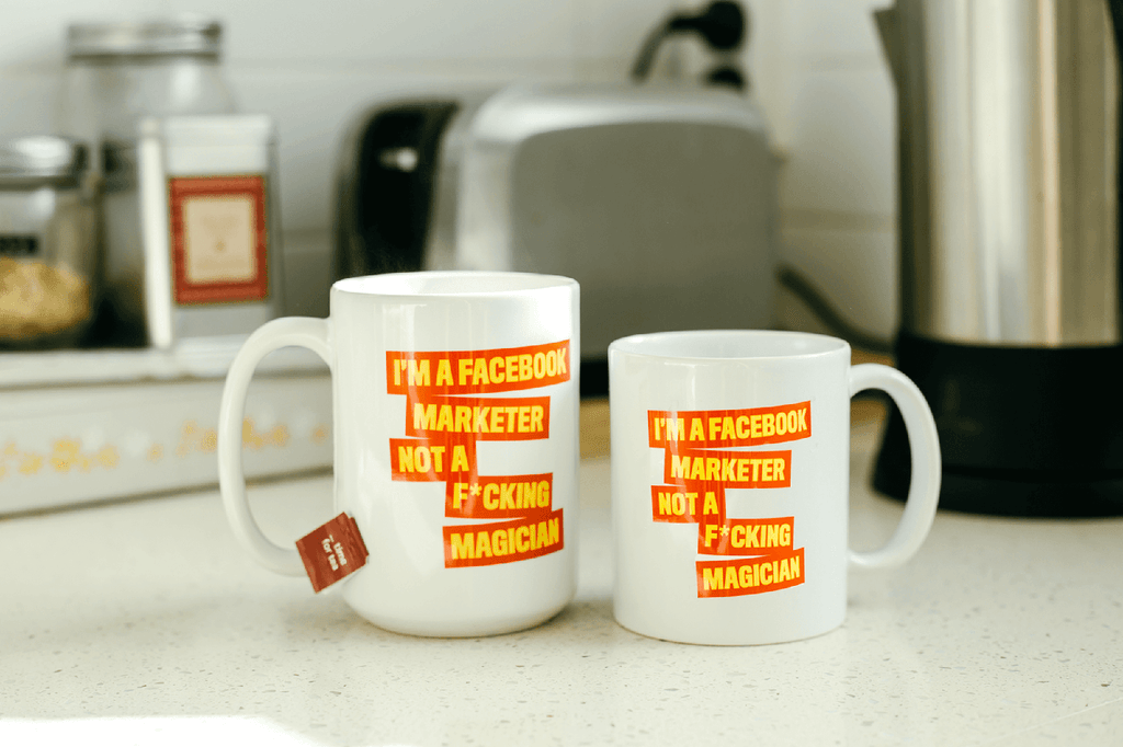 I'm a FB Marketer Not a F*cking Magician Orange Mugs