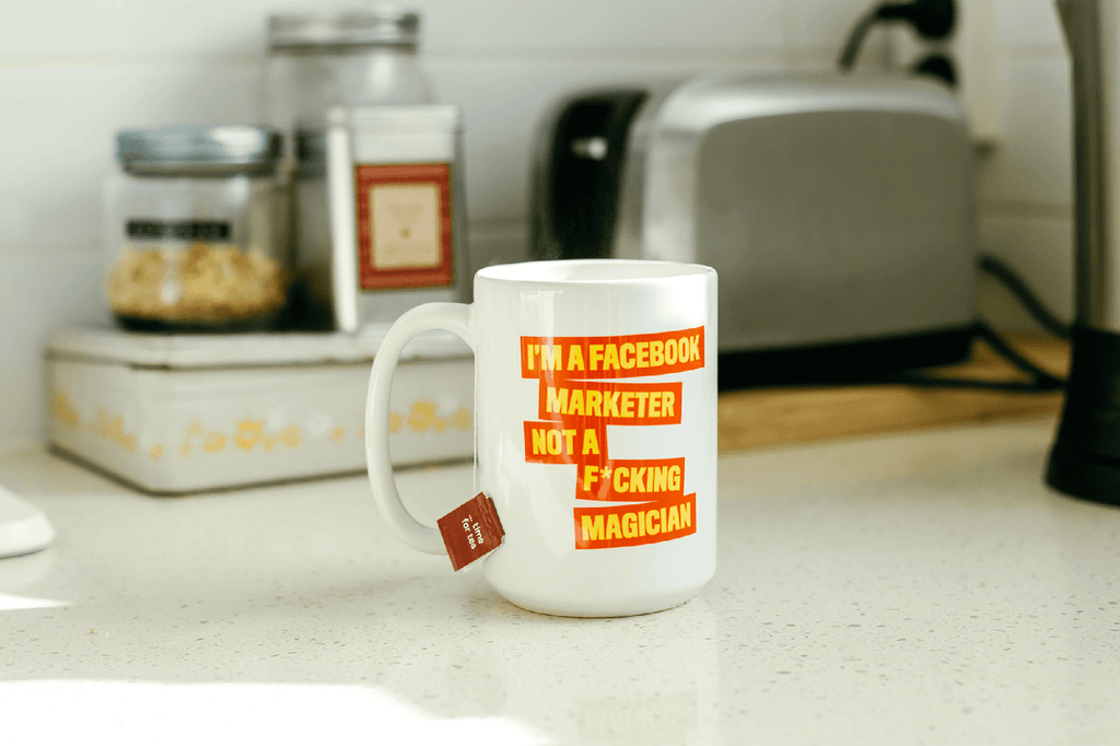 I'm a FB Marketer Not a F*cking Magician Orange Mug