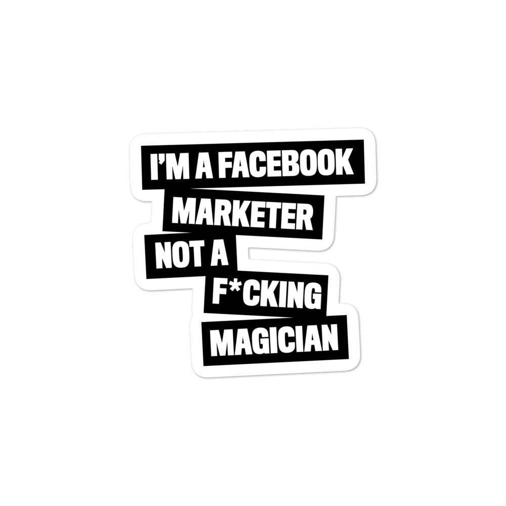 FB MARKETER Sticker Black