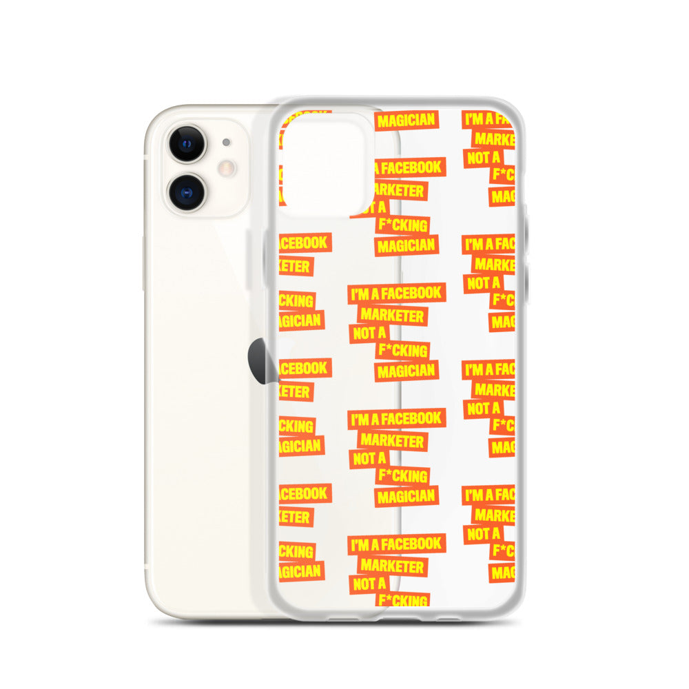 I'M A FB MARKETER iPhone Case Orange Multi