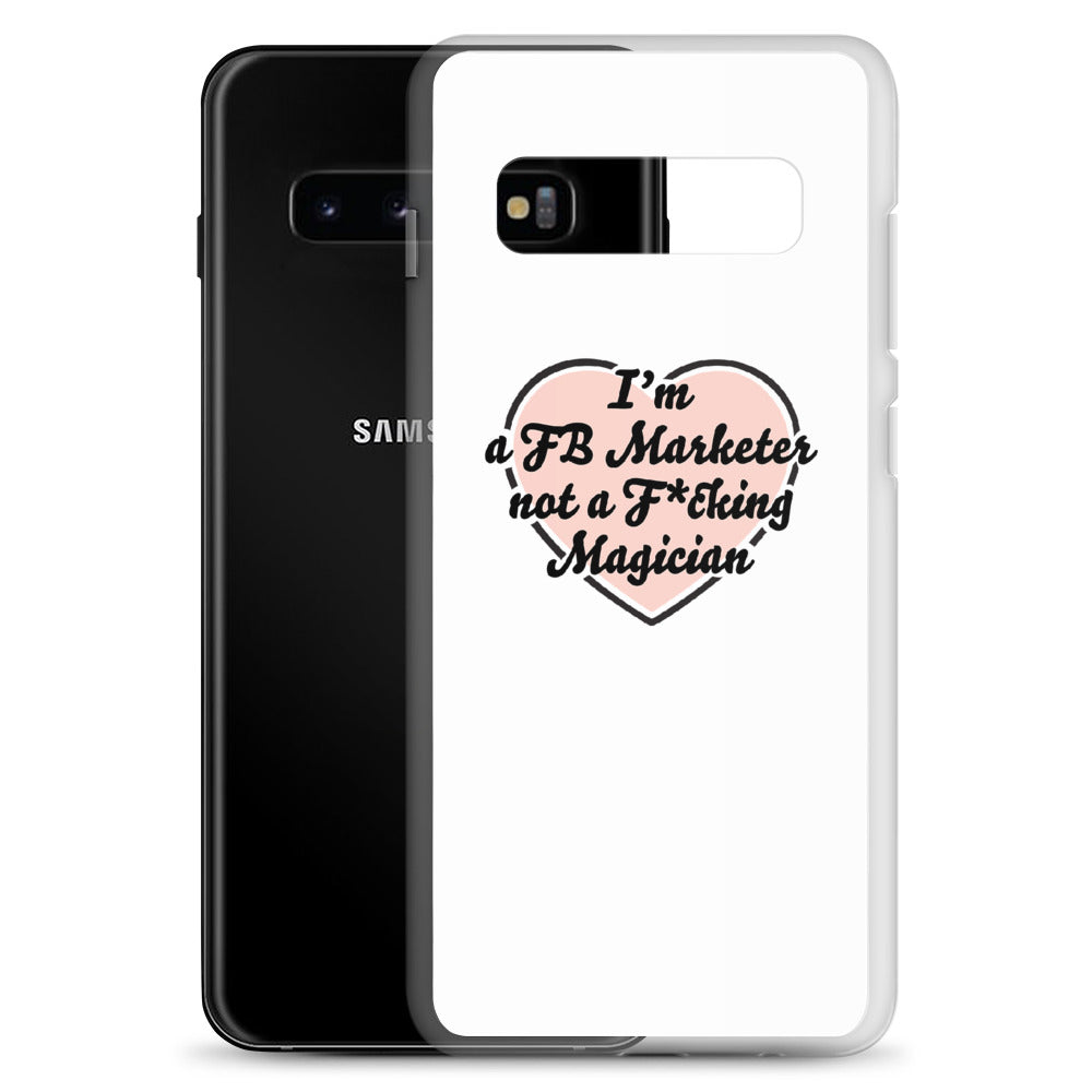 I Heart You FB Marketer Samsung Case White & Logo