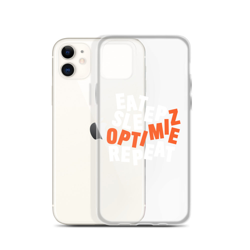 EAT SLEEP DISTILLED iPhone Case White & Orange