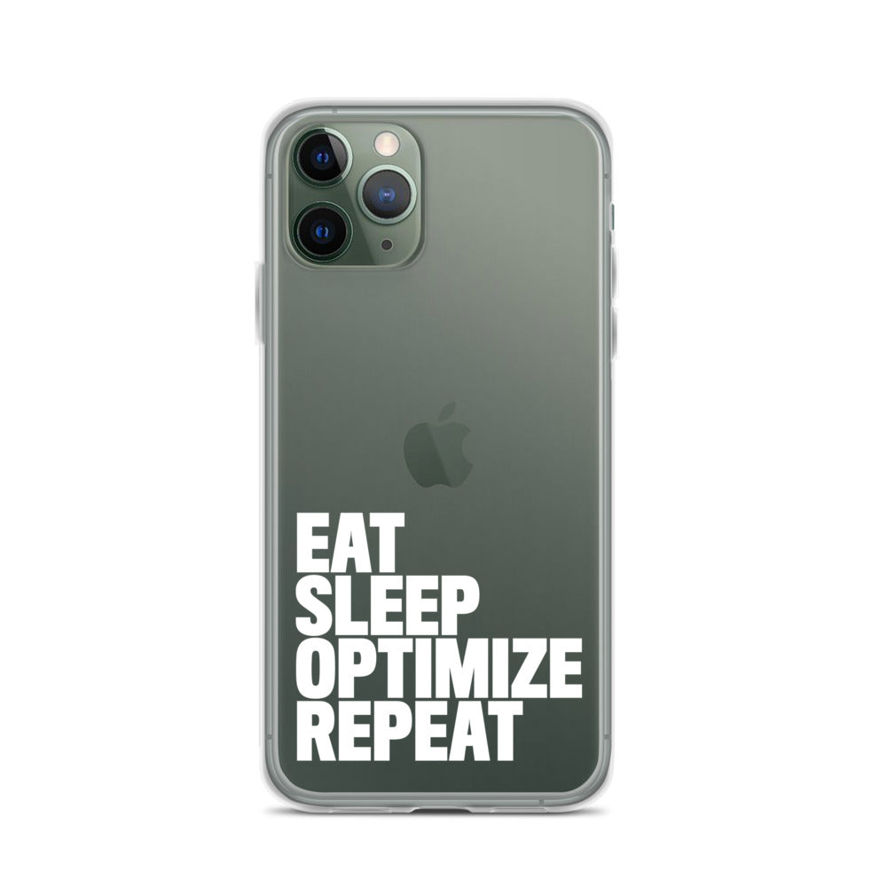 EAT SLEEP iPhone Case White