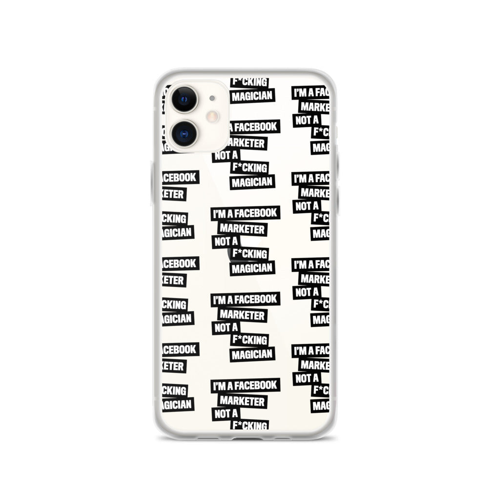 I'M A FB MARKETER iPhone Case Black Multi
