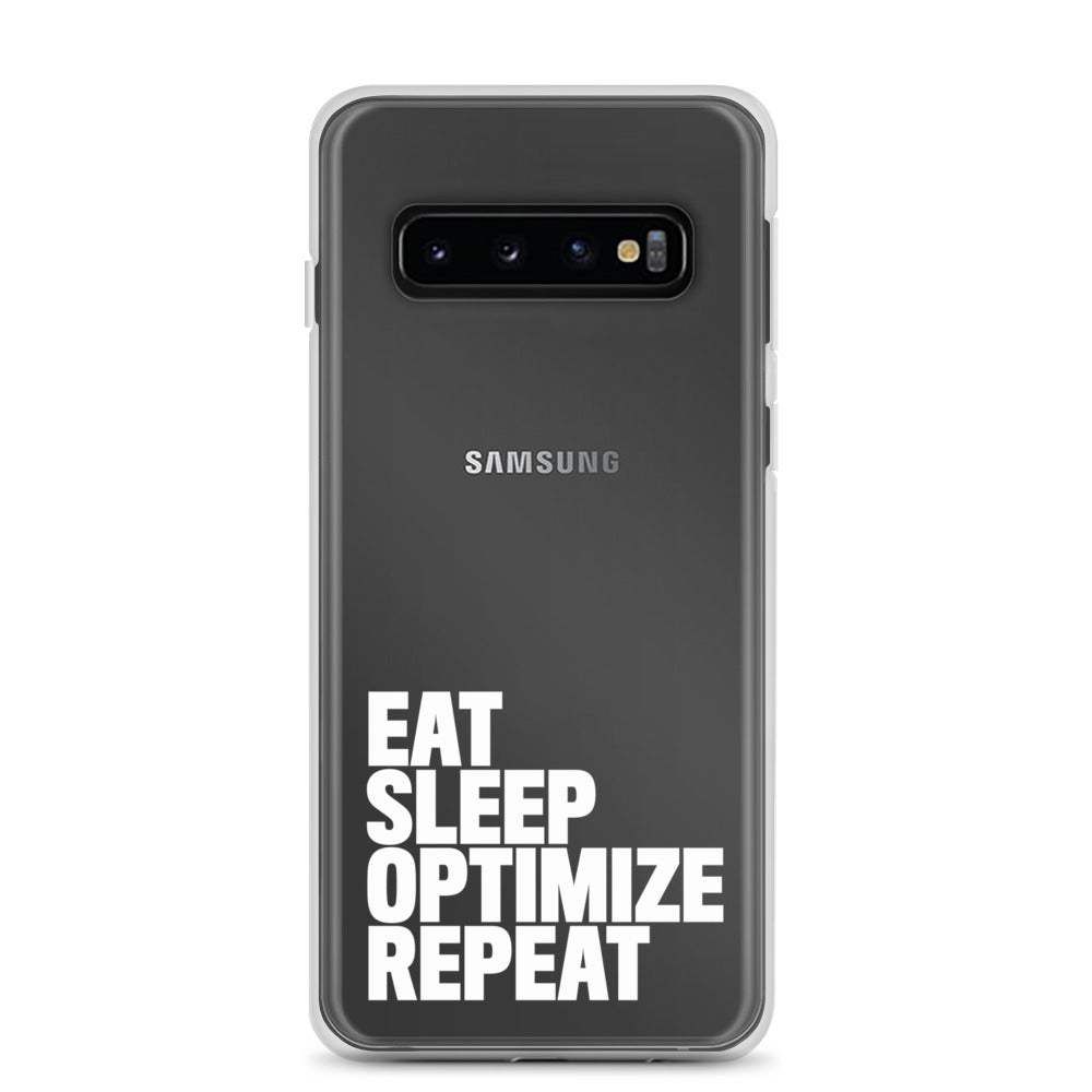 EAT SLEEP Samsung Case White